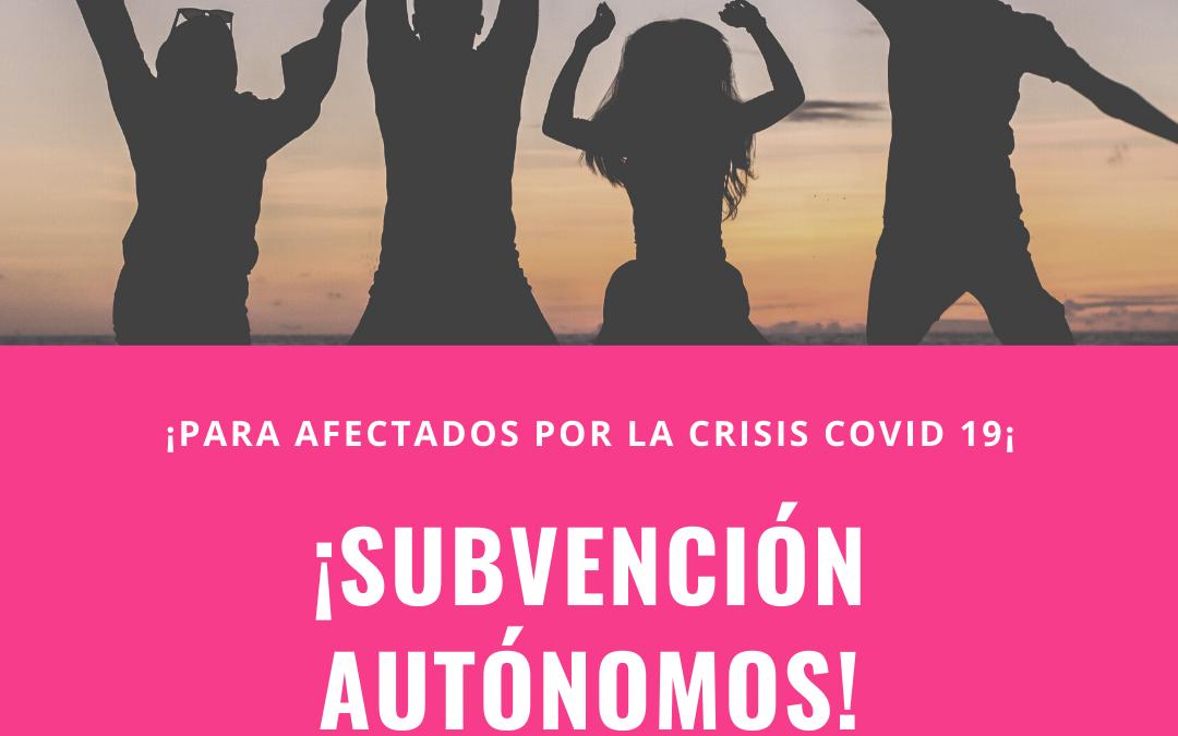 Subvción Diputación Málaga autónomos Covid 19